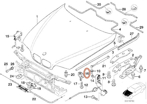 e39 bmw oil temp sensor location