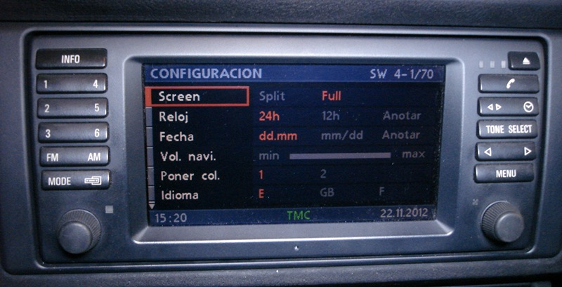 On Board Monitor Navigation System Professional Bmw E38