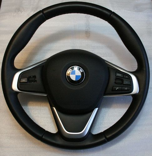 Sports leather steering wheel + airbag - BMW 2 Series F45 / F46 / X1 F48 - 32306860357