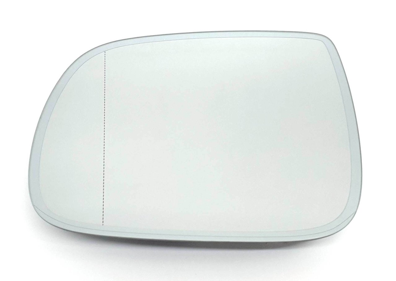 X AUTOHAUX Mirror Glass Heated with Backing Plate Driver Side Left Side Rear View Mirror Glass for AUDI Q5 Q7