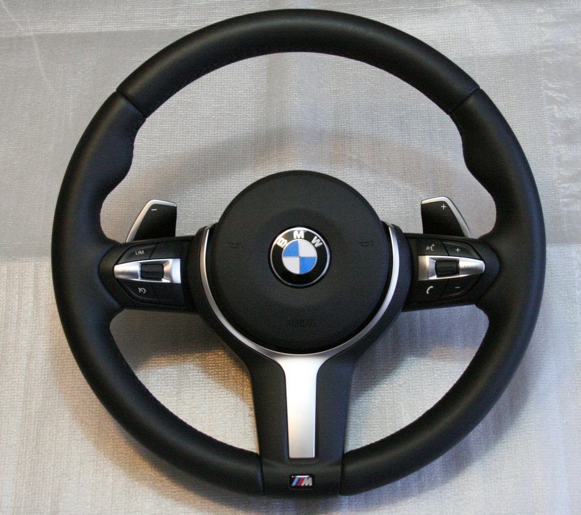 M Sports Leather Steering Wheel With Shift Paddles Bmw