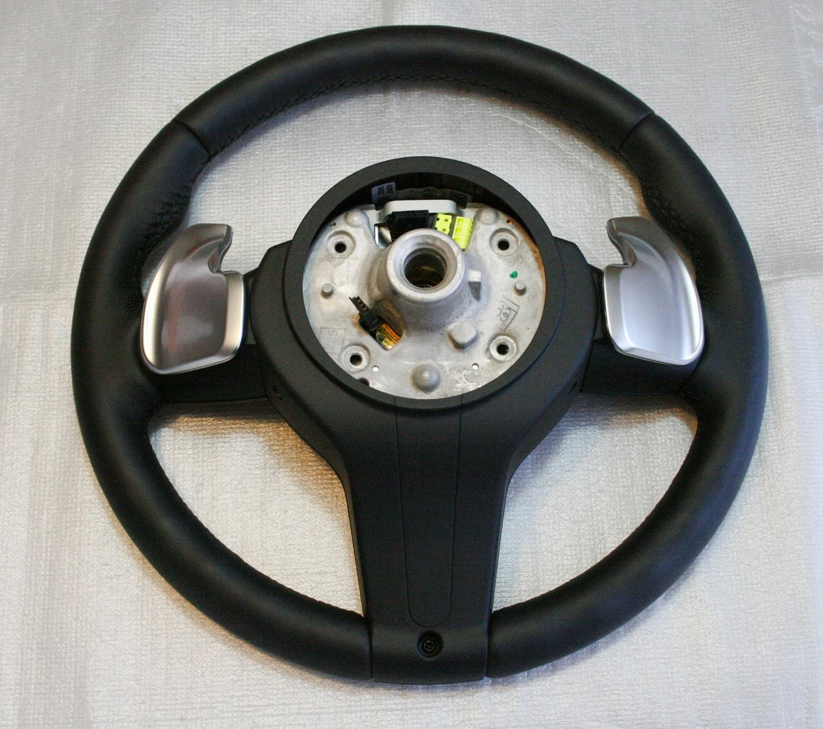 Bmw Z8 Steering Wheel: M Sports Leather Steering Wheel With Shift Paddles