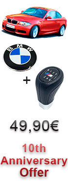 10th Anniversary Offer - Shift knob M + Bonnet - BMW 1 Series - E81 E82 E87 E88
